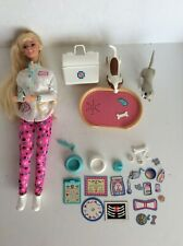 1996 Pet Dr. Barbie Veterinarian with Animals and Sound Bed and Accessories