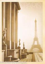 Postcard: Statues At Palais De Chaillot & The Eiffel Tower, Paris, 1950s (2014)