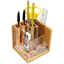 In bambù e acrilico Supporto Penna Matita Pot