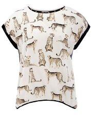 Tunika Gr.52 Oversize Leo Animal Nieten Longtop Shirt Longshirt Nietenshirt