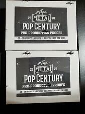 2020 Leaf Metal Pop Century Pre-Production 1(one) Box 3 1/1 PROOF Slabbed Cards