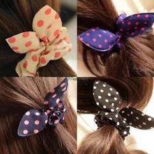 Women Girls Hair Accessories Rabbit Ears Hair Ring Elastic Bunny Ear WT88 02