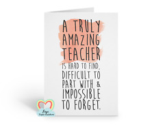 teacher card thank you retirement thanks quote christmas birthday leaving
