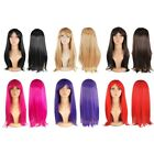 20INCH Women Ladies Long Straight Wigs Fancy Dress Cosplay Party Costume Hair