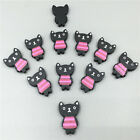 Black printing lovely Stereoscopic Cat wooden Scrapbooking Embellishments 24mm