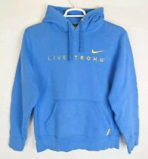 RARE Nike Livestrong Hoodie Sweater Large Ocean Sky Blue Bike 416341-430
