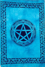 Wonderfull  Indian Wall Art Blue Star Design Ethnic Small Cotton Tapestry poster