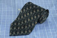 Joseph Abboud Men's Tie Charcoal Gray & Copper Geometric Silk Neck 57 x 3.75 in.