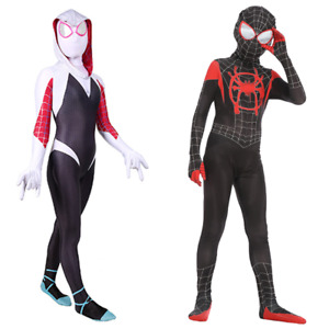 Spider-Man: Into the Spider-Verse Gwen Stacy&Miles Morales Kid Boy Girl Jumpsuit