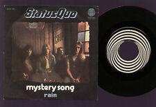 "7"" STATUS QUO MYSTERY SONG / RAIN ITALY 1976 SWIRL VERTIGO LABEL PARFITT YOUNG"