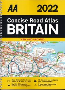 AA Concise Road Atlas Britain 2022 NEW