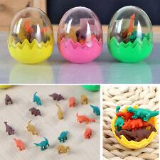 1Pcs Mini Dinosaur 2 Eggs Pencil Rubber Eraser Students Kids Stationery Random T