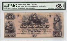 United States / Louisiana, New Oreleans 1850s PMG Gem UNC 65 EPQ 50 Dollars