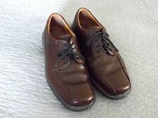 MEN'S BROWN LEATHER ECOO OXFORD DRESS SHOES SIZE 43 9/9.5