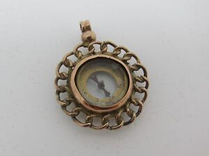 Delightful Edwardian 9ct Rose Gold Compass Pendant Fob