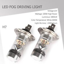 H7 LED Headlights Bulbs Kit Hi/Lo Beam Super Bright 6000K Pure White For Car