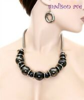 Chunky Gorgeous Pearl Stone Necklace and Earring Set Fashion / Costume Jewelry