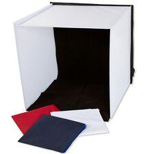 Caja de luz portatil 40x40x40cm con 4 fondos para fotografia de producto