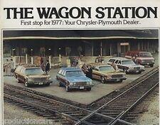 1977 Chrysler Plymouth Station Wagon Original Car Brochure - Fury Gran Volare