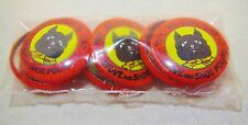 Sealed Vintage Try Black Cat Stove And Shoe Polish Advertising Pinback Set Lot