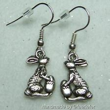 Easter bunny rabbit with egg charm earrings pretty gift symbolic magical rebirth
