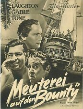 Meuterei auf der Bounty Filmprogramm IFK 2520 EA 1935 Mutiny on the Bounty Gable