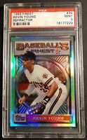 1993 KEVIN YOUNG TOPPS FINEST REFRACTOR #34 PSA 9 PIRATES POP 69  (813)