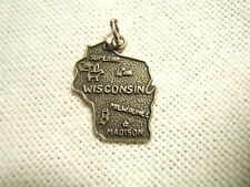 New listing Sterling Silver Charm State Map Of Wisconsin