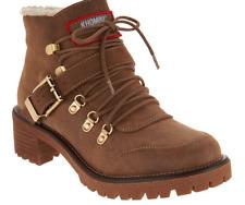 Khombu Waterproof Lace-up Boots - Eagle Mocha Brown New Size 11 Women's