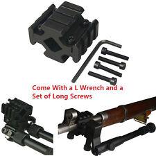 Universal Bipod and Flashlight Mount Adapter Fit Weaver Picatinny Bipod