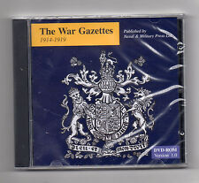 ***JUST RELEASED : THE WAR GAZETTES 1914-19 ON CD ROM