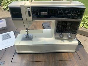 Vintage Singer 6268 Electronic Sewing Machine With Pedal & Power Cord
