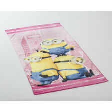 SERVIETTE DE PLAGE « Minion Rose» 70 x 140 CM