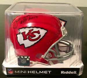 "Johnny Robinson Autograph ""HOF 2019"" Riddell Mini Helmet Tristar COA Chiefs"