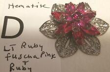 Connector Jewelry Findings Make a Brooch Lg 45mm Swarovski Filigree Brass Flower