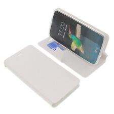 Funda para LG K8 Book Style Funda protectora Teléfono móvil estilo libro blanco