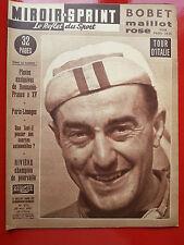20/05/1957 miroir sprint n°572 CYCLISME TOUR D'ITALIE BOBET RIVIERE RUGBY