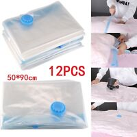 12x Large Vacuum Storage Bags Strong Seal Vac Compressed Vacum organiser bag UK