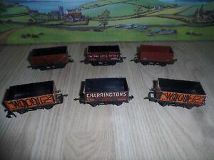 6 TRIANG / TRIX MODEL RAILWAYS OO GAUGE OPEN COAL WAGONS