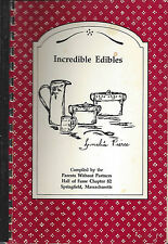 *SPRINGFIELD MA 1990 PARENTS WITHOUT PARTNERS CLUB COOK BOOK *INCREDIBLE EDIBLES