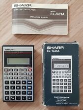 Vintage Retro Sharp EL-531A Scientific Calculator Boxed with Instructions Japan