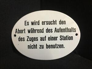 Esso È Ersucht Den Abort Non Della Utilizzare Cartello Smaltato 14 X 10,3 CM