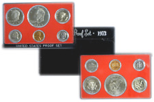 1973 S 6 Coin Proof Set Original Government Box Smokiness/Toned Used Box