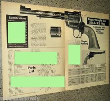 1981 COLT Diamondback .LR Revolver Evaluation Article Exploded View Parts List
