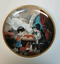 "Precious Moments Collector Plate ""The Carpenter Shop"" Bible Story 1992"