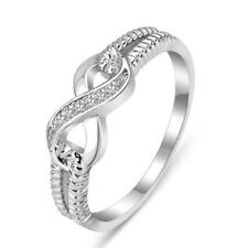 Women's 925 Silver Infinity Knot Friendship Love Promise Ring Jewelry Size 5-10