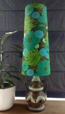 Bespoke Handmade West German Fat lava lampe vintage tissu conique abat-jour (M)