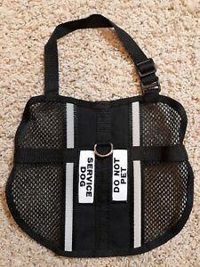 "Service Dog ""Do Not Pet"" Black Mesh Vest Size Small"