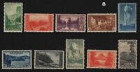 1934 National Parks Sc 740-9  MNH  set of 10