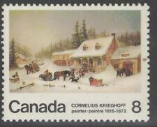 Canadá SG749 1972 céntimos de Cornelius Krieghoff estampillada sin montar o nunca montada
